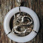 Jadeite Dragon Pendant
