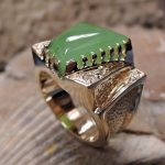 Siberian Jade Man's Ring