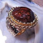 Fire Agate Man's Ring