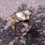Gold in Quartz Lady's Ring