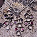 Multistone Pendant and Earring Set