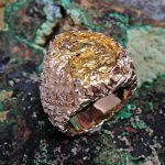 Gold Nugget Man's Ring