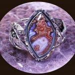 Purple Passion Agate Cuff Bracelet