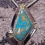 Turquoise and Nugget Pendant
