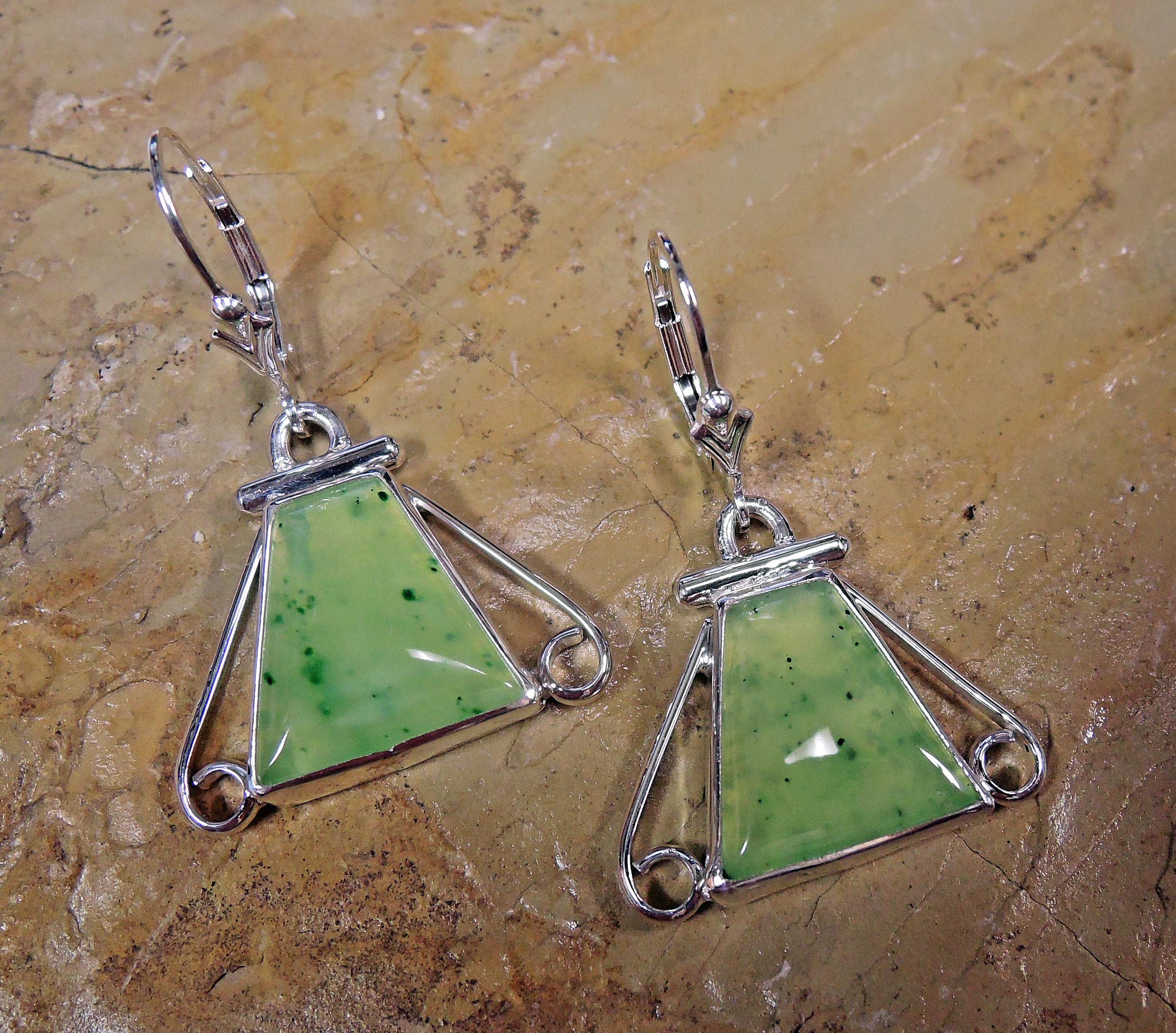 Pulga Jade earrings
