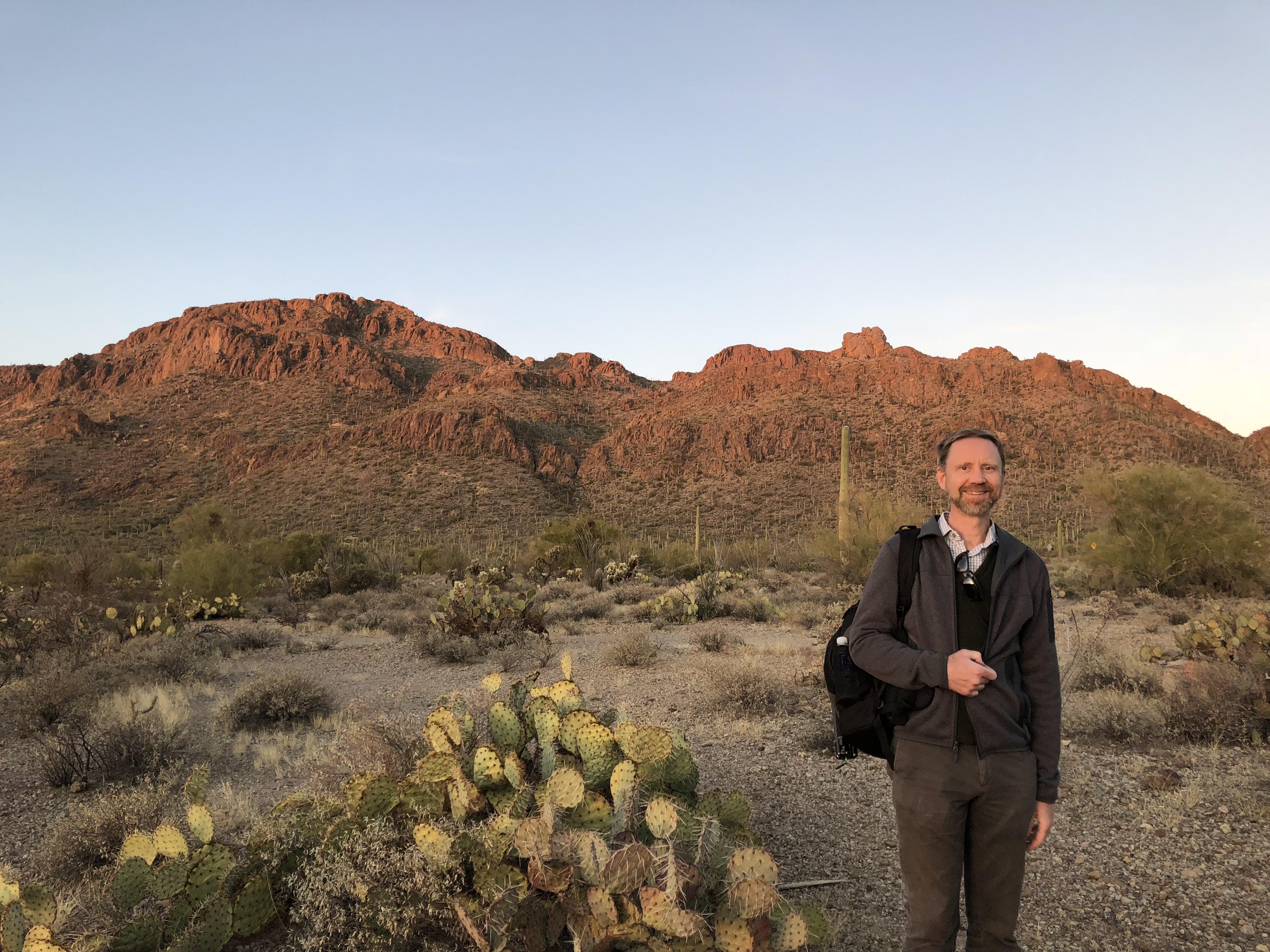 Scott in a lovely desert scene