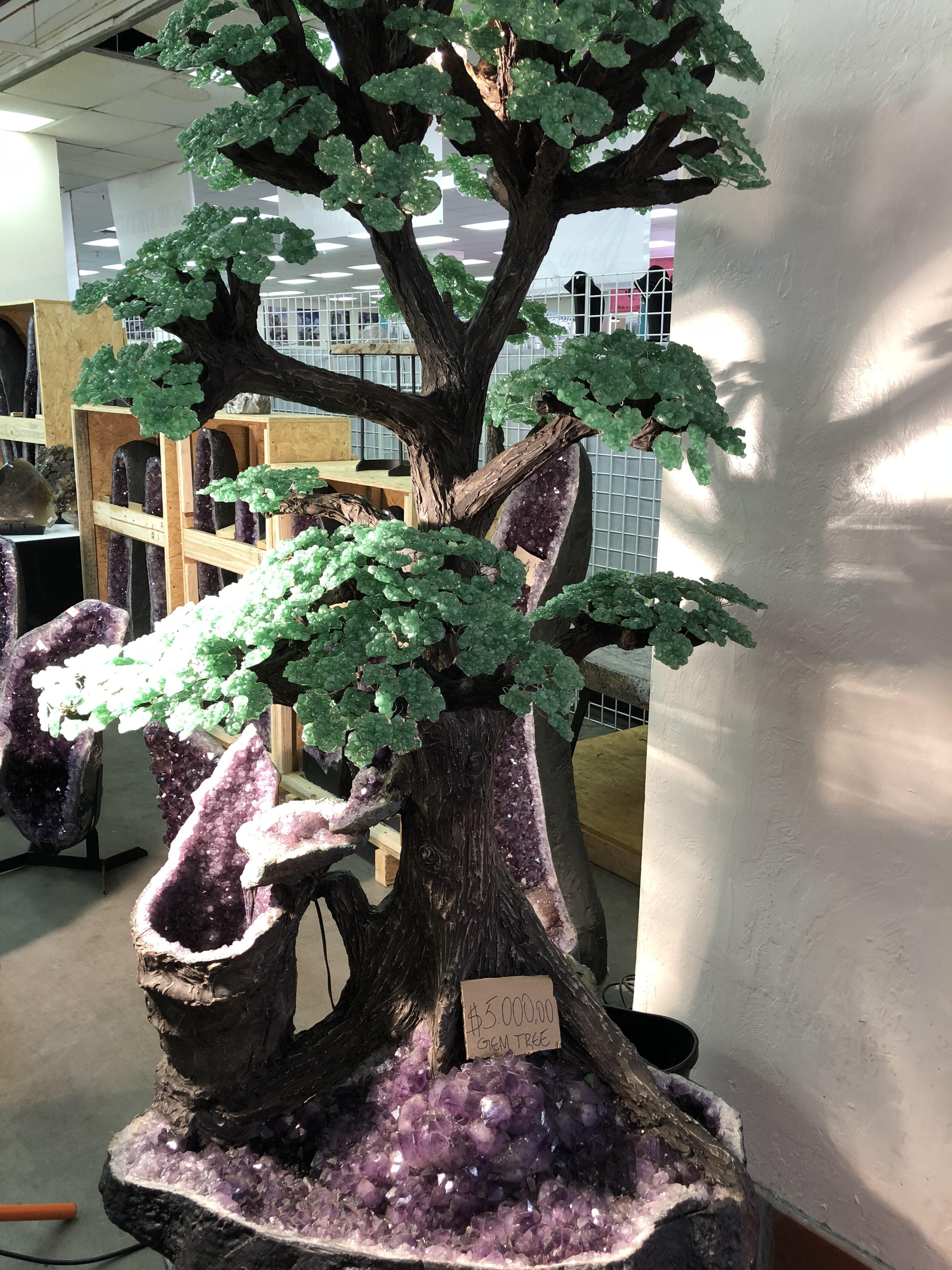 Life-size gemstone tree