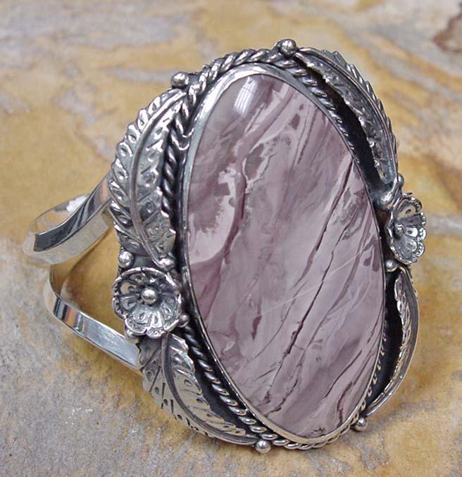 Willow Creek jasper cuff bracelet