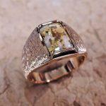 Gold in Quartz Man's Ring
