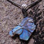 Opal Horse Pendant