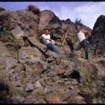 Al and John mining Bruneau jasper in Bruneau Canyon, Owyhee County, Idaho, USA