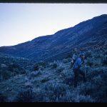 John Gaumer packing jackhammer to the Bruneau jasper mine in Bruneau Canyon, Owyhee County, Idaho, USA