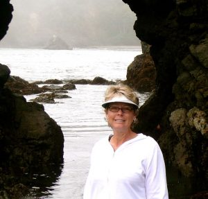 Jill Russell enjoying the California coast
